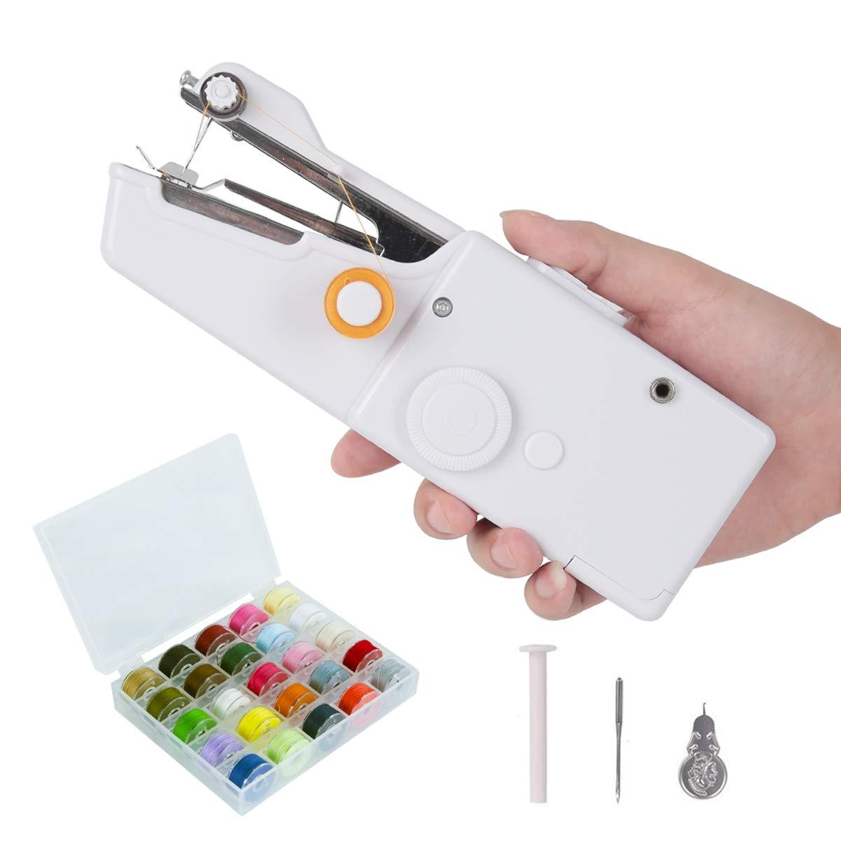 mini outil de m/énage de point /électrique sans fil de rideaux portatifs pour lutilisation de voyage /à la maison avec 28 couleurs de fil de canette Machine /à coudre portative daiguille et de fileur