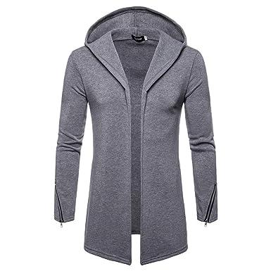 Yvelands Hombres Cremallera Casual Larga Chaqueta de Punto suéter Chaqueta Gabardina Outwear Blusa, Ofertas: Amazon.es: Ropa y accesorios