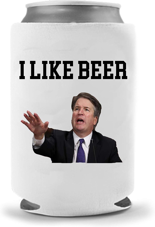 Kavanaugh Beer Coolie - Funny Gag Party Gift Beer Can Cooler | Funny Joke Drink Can Cooler | Trump Beer Beverage Holder - Beer Gifts Home - Quality Neoprene No Fade Can Cooler