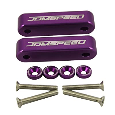 "JDMSPEED Anodized Purple Hood Spacer Hood Riser 3/4"" for Honda Civic CRX Del Sol Acura Integra: Automotive"