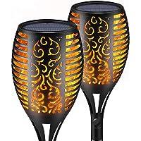 ZWOOS Antorchas Solares Exterior, 2 Piezas 96 LED Luces de llama, Iluminación Impermeable con Efecto de llama realista…