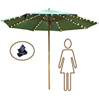 VOOKRY Patio Umbrella Lights Solar Powered Outdoor Multi Mode 104 LED String Light Waterproof Umbrella Pole Solar Lights for Patio Camping Tents