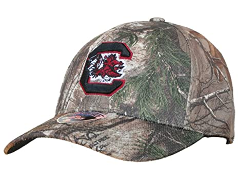 ac22d908ab85a Image Unavailable. Image not available for. Color  Top of the World South  Carolina Gamecocks Tow Camo Realtree Xtra Memory Flexfit Hat ...