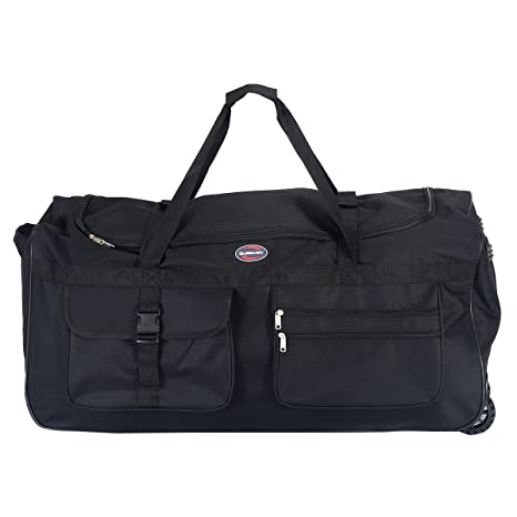 "78b419249a Tangkula Wheeled Duffle 36"" Drop Bottom Heavy Duty Rolling Tote Luggage Bag  Travel Sports Outdoor"