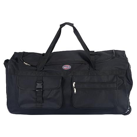 "e6eb714a12 Tangkula Wheeled Duffle 36"" Drop Bottom Heavy Duty Rolling Tote Luggage Bag  Travel Sports Outdoor"