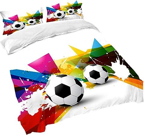 Sticker Superb Juegos de Ropa de Cama 3D Acuarela El Fútbol Imprimiendo Funda Nórdica Funda de Almohada 100% Microfibra Hombre Niño Verano Otoño Invierno (Acuarela de Futbol, 180 * 220cm): Amazon.es: Hogar
