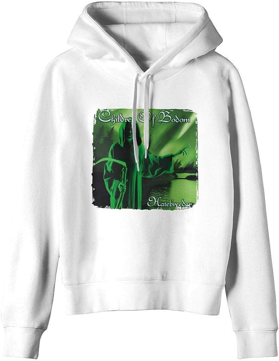 SUNBO Children of Bodom HATEBREEDER Women Hoodie Sweatshirt White