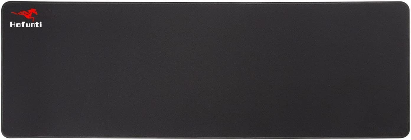 HOFUNTI Extended Mouse Pad//Mat Waterproof Gaming Mousepad Black Edges Ultra Thick 0.2 30.71x11.81,Well Stitched Edges Non-slip Rubber Base Textured Weave for Speed and Control