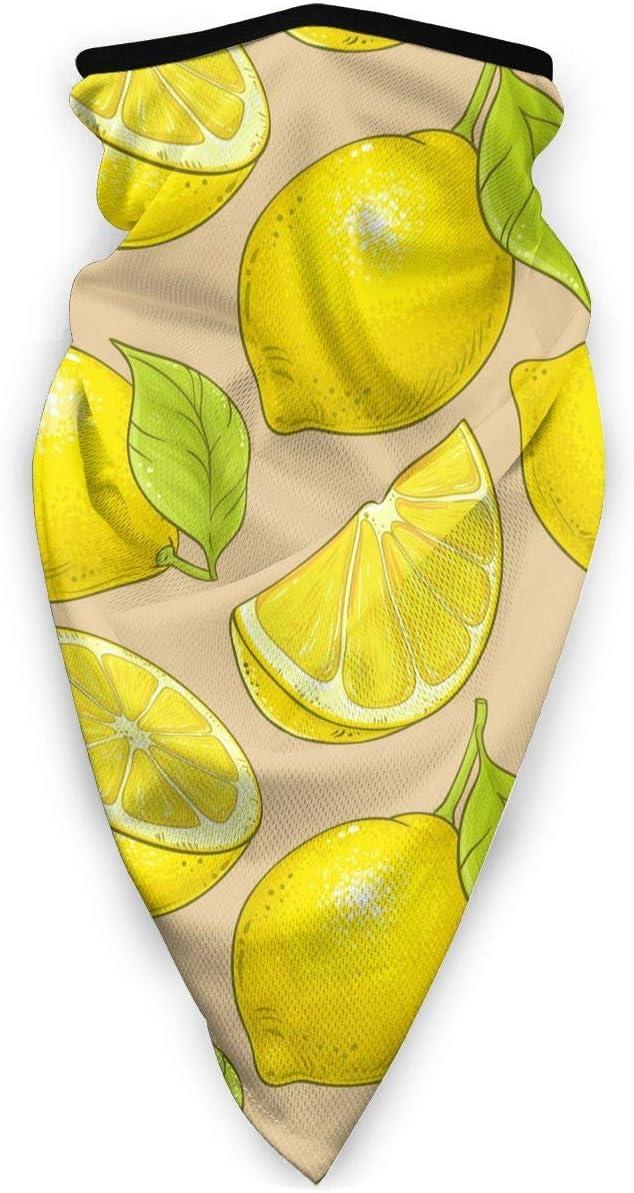 Limón Tropical Art Painting American Face Mouth Mask Bandanas a Prueba de Viento para Festivales de Polvo Bufanda Bandana