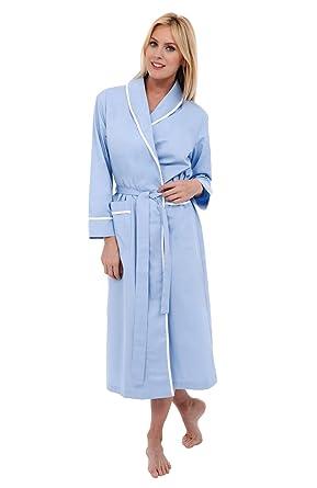 Alexander Del Rossa Womens Solid-Colored Cotton Summer Robe ... fd4ef5b5b