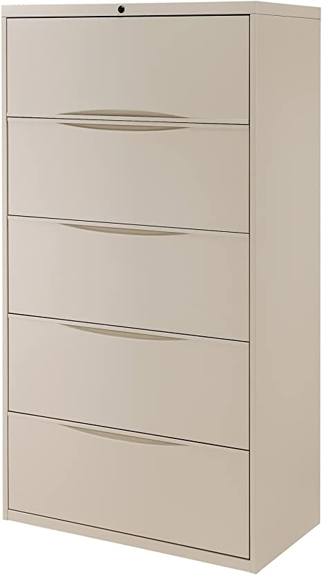 36 W Premium Lateral File Cabinet 5 Drawer Putty Office Products Amazon Com