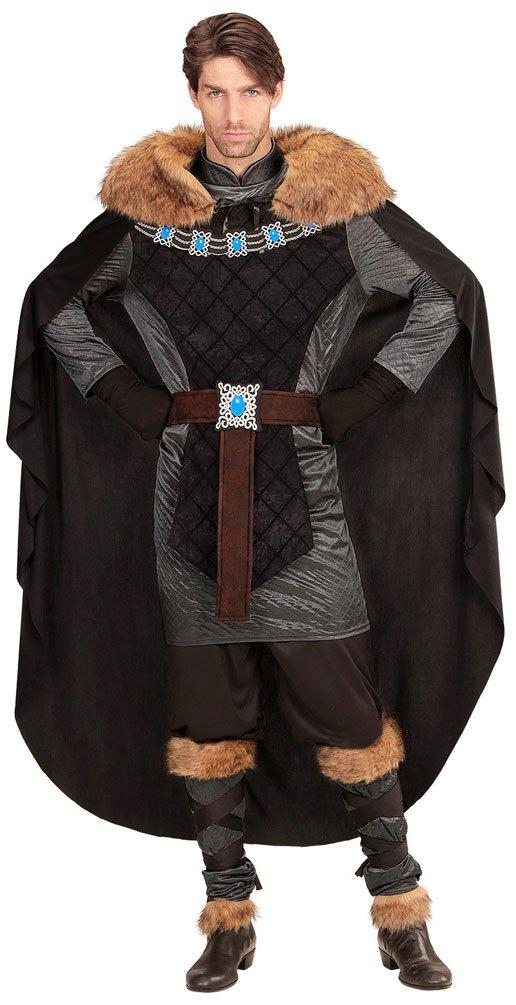 Karneval-Klamotten Ritter-Kostüm Herren Luxus König-Kostüm Herren schwarz-Silber Mittelalter-Kostüm Karneval Herren-Kostüm Größe 50