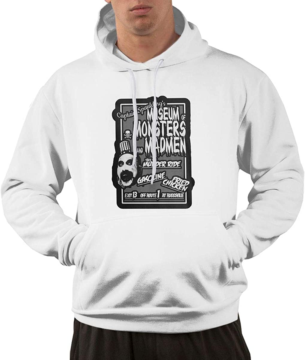 DONGLY Mens Captain Spaulding Nordic Winter Personality Wild Long Sleeves Personality Hoodies with Pocket