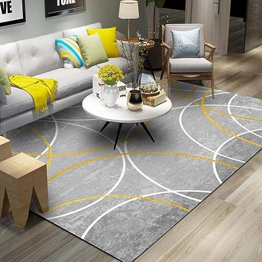 Pgron Home Design Bambini Semplice Decorazioni Ikea Moderno Geometrico  Salotto Camera da Letto Esterno Pelo Corto Tappeti Modello Rotondo Giallo  ...
