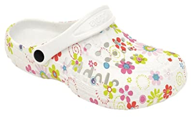 cheap for discount af843 1e3b8 buyAzzo Damen Slobby Eva Clogs Hausschuhe Gartenclogs Beruf Pantoletten  Freizeit Badeschuhe Fersen Riemen Blumen Motiv Slipper Sandalen Schuhe ...