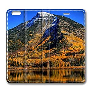 Autumn In Mountains iPhone 6 Plus 5.5inch Leather Case, Personalized Protective Slim Fit Skin Cover For Iphone 6 Plus [Stand Feature] Flip Case Cover for New iPhone 6 Plus by mcsharks