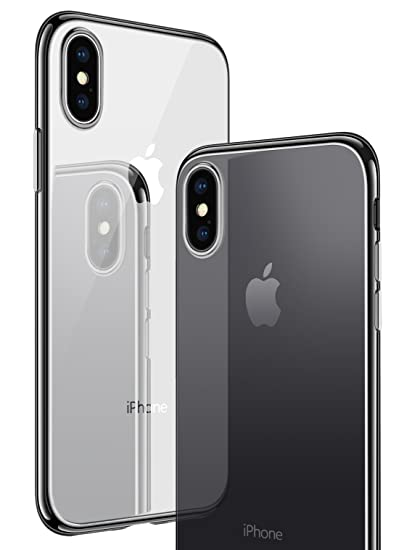sale retailer 73ab9 a066c CASEKOO iPhone X Case, iPhone 10 Case, Slim Fit Ultra Thin Clear Case with  Soft Silicone Protective Transparent Back Shockproof Bumper Cover ...