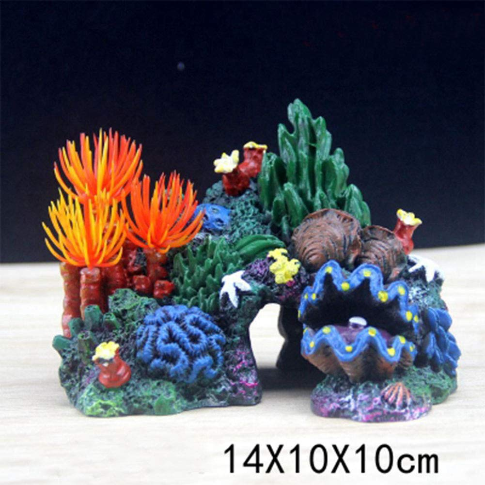 B HR Creative Fish Tank Rockery Aquarium Decoration Landscaping Creative Jar Fake Coral Creative Jewelry Pirate Ship (Style   B)
