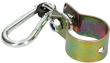KOTARBAU Schaukelhaken 100 mm mit Karabinerhaken Schaukelschelle Schaukelbefestigung Rundholz Manschettenhaken Gold Verzinkt Hakenhalterung Schaukel