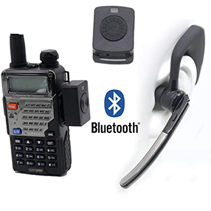 Bluetooth Wireless Adaptor +PTT Headset for Kenwood TYT BAOFENG UV5R on