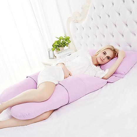 53ba95583 caij único total cuerpo en forma de U cojín de lactancia almohada de  maternidad con cubierta