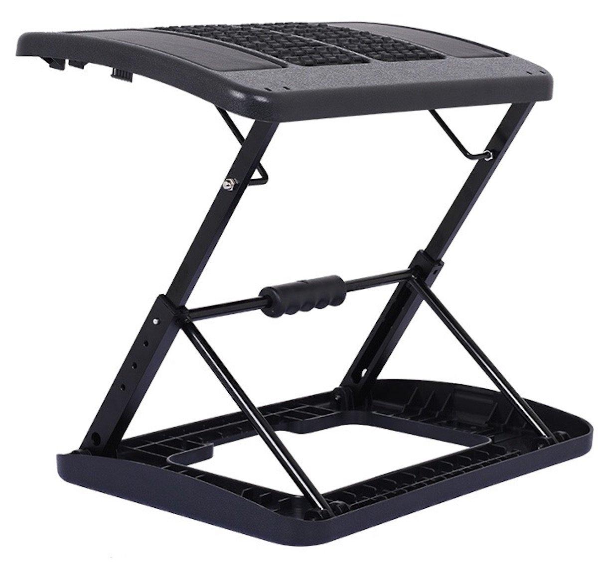Adjustable Folding Footrest for Home Office, Or Under Desk Ergonomic Massaging Foot Rest (Footstool) (Massaging Adjustable) by HomeTown Market