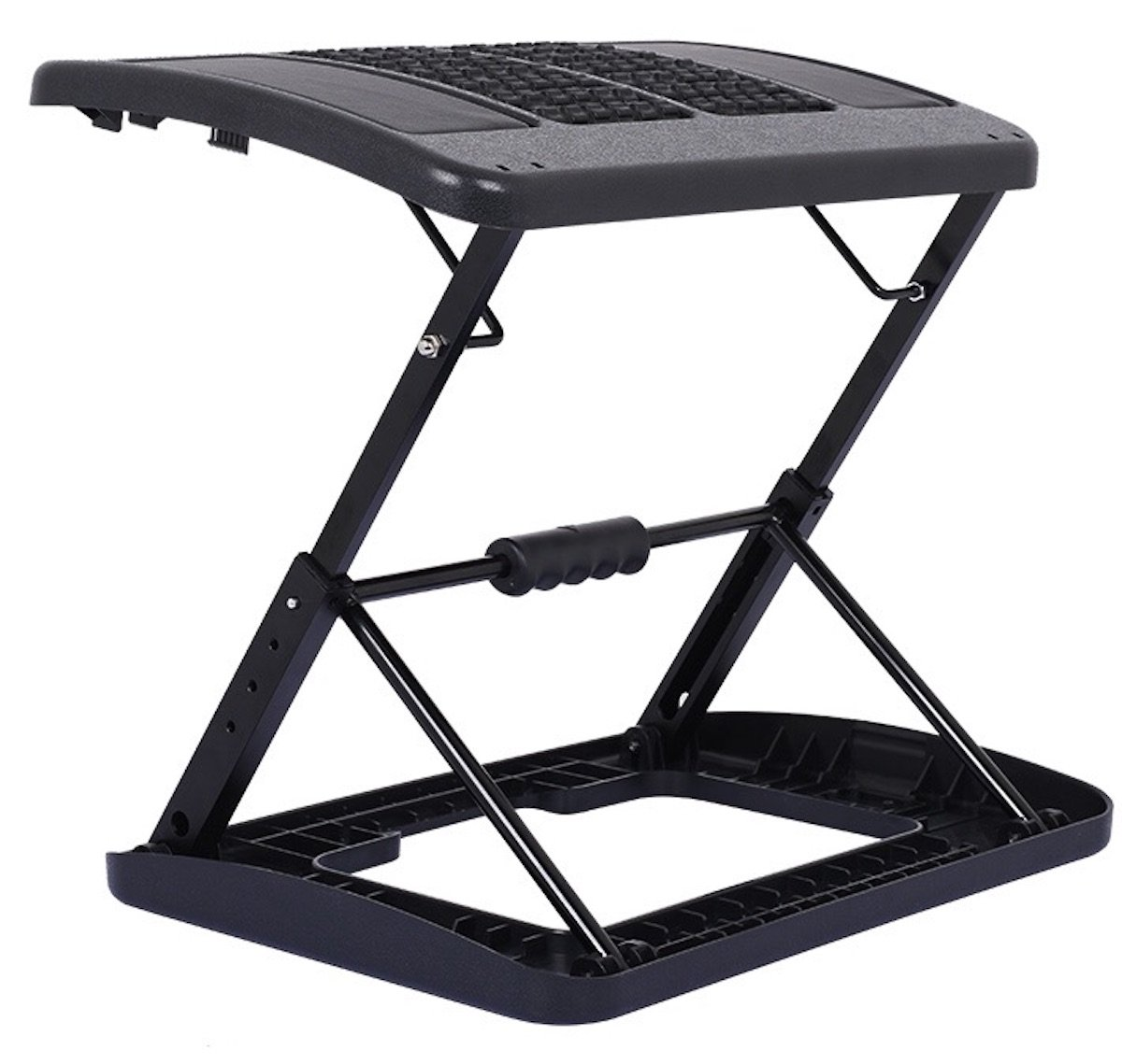 Adjustable Folding Footrest for Home Office, Or Under Desk Ergonomic Massaging Foot Rest (Footstool) (Massaging Adjustable)