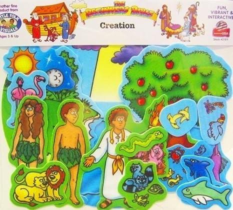 Beginners Bible Creation Story Flannelboard Figures - Pre-Cut by Little Folk Visual: Amazon.es: Juguetes y juegos