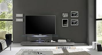 Zenzero Shop Porta TV Moderno di Design, Rovere Grigio Con ...