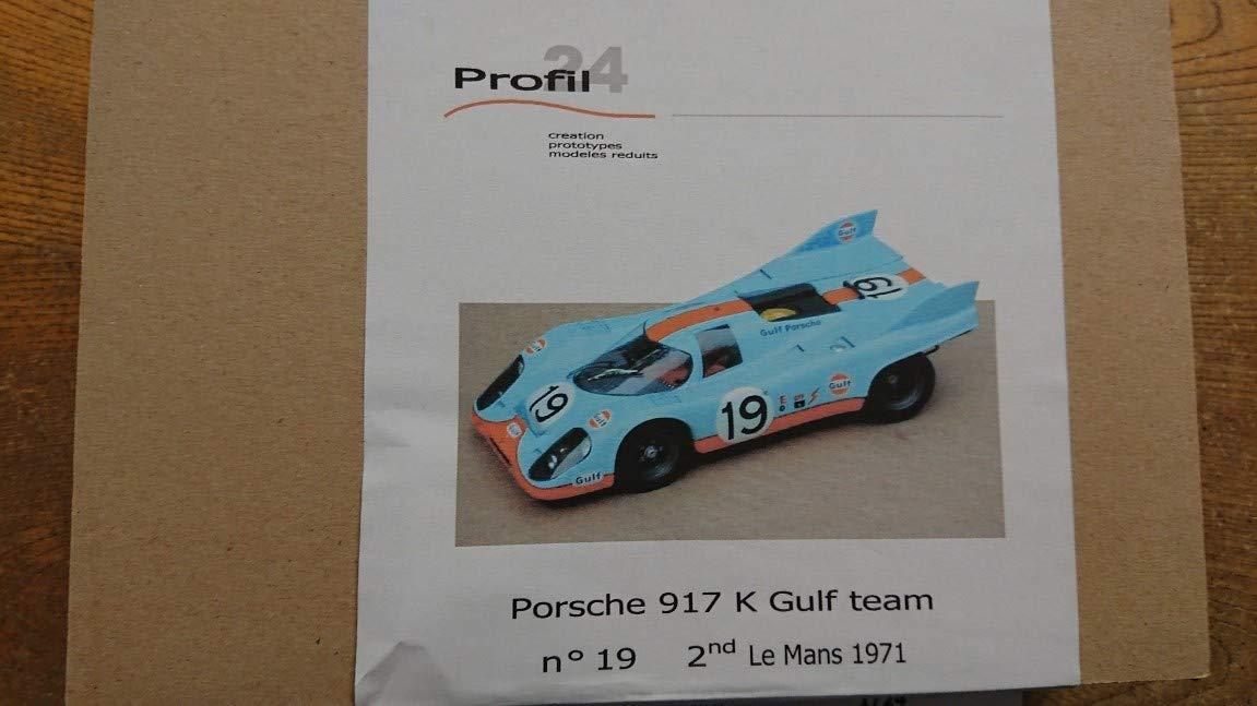 1/24 Porsche 917 K Gulf team n゜19 2nd Le Mans 1971 B07GRV43QP