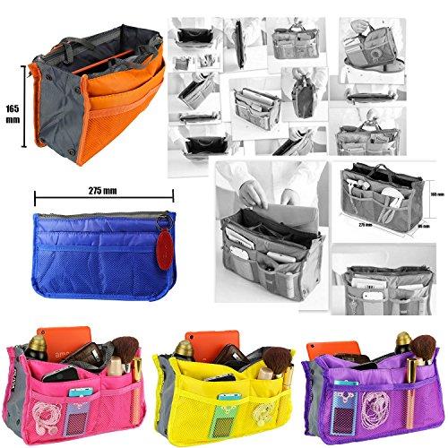 P8 X Compartiments Cuir 5 Cles sac 14 Vert À Porte Main Pack Voyage Sac 5 Violet h16 Detachable L27 Organiseur Cm 5 De Olivia wfZCq7n