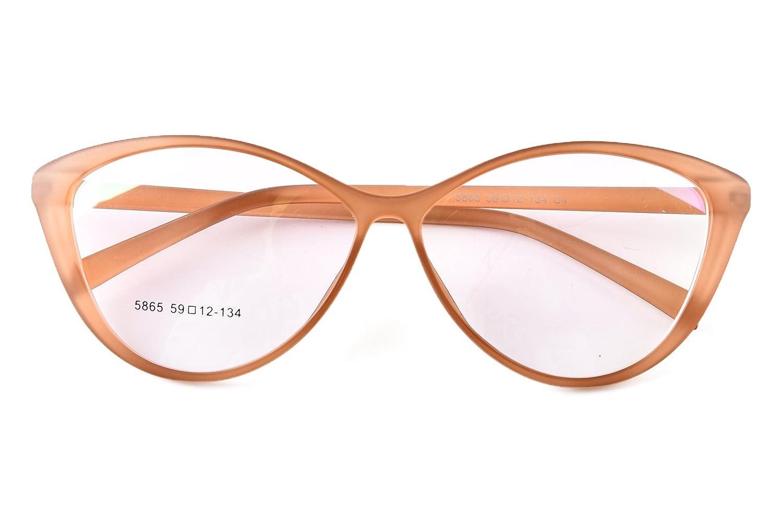 f6bf496a7b Amazon.com  Agstum Ladies Womens Cat eye TR90 Glasses Frames Optical  Eyeglasses 59mm (Brown