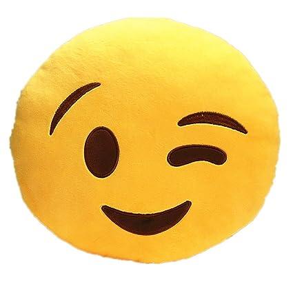 buy funny teddy emoji smiley faces decor cushion pillow wink 35