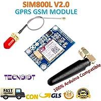SIM800L V2.0 5V Wireless GSM GPRS MODULE Quad-Band with Antenna Cable Cap |SIM800L Module sans fil GPRS GSM Carte SIM Quadband 5V Quadband BAND L Antenne de forme pour Arduino