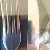 Renberg Cubiertos, Acero Inoxidable, Cromado, 17.5x6x25.5 cm, 24 Unidades