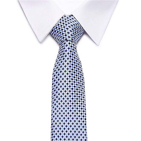 Zjuki Corbata Corbata a Cuadros Hombres 8 cm de Ancho Corbata de ...