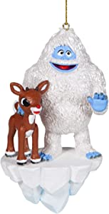 Department 56 Rudolph The Red-Nosed Reindeer and Bumble Hanging Ornament, 4.7 Inch, Multicolor