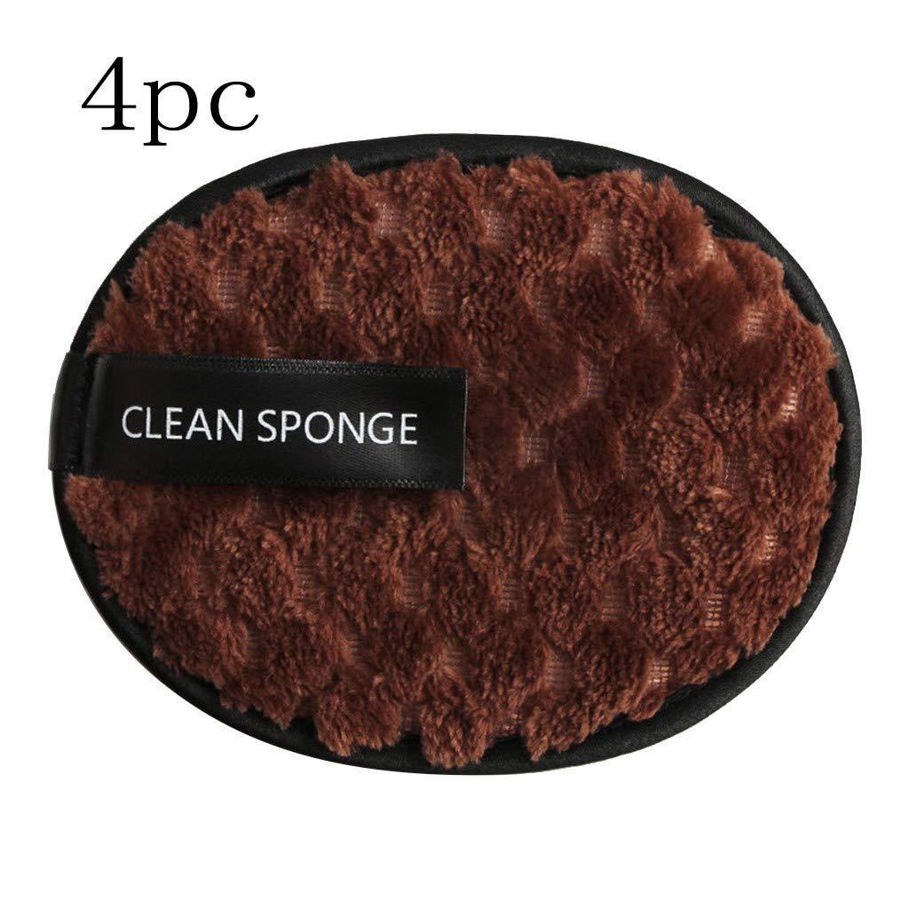 Marr/ón Sansee 4 Unidades Toalla Desmaquillante Facial Microfibra Lavable//Reutilizable,Maquillaje Remover Pa/ño,Remover Make Up Face Cloth