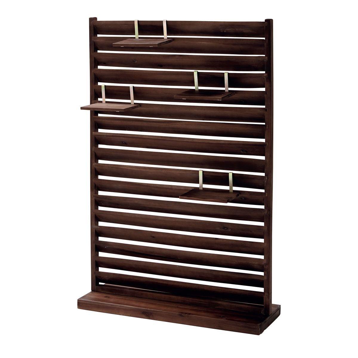 Amazon Garten Sichtschutz Paravent Freistehend Holz 80 x 28 x