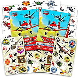 Disney Planes: Fire & Rescue Tattoos and Stickers Party Favor Pack (60 Stickers & 50 Temporary Tattoos)
