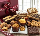 Dulcet Deluxe Gourmet Food Gift Basket: Prime Delivery:Graduation & Father day for Dad Grandfather Men him: Includes Assorted Brownies, Crumb Cakes Rugelach, and Muffins. Great gift idea!