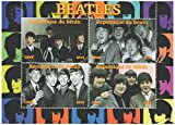 Stamps for collectors - Sheetlet with photographs of UK band The Beatles from 2014 - 4 stamp sheet / MNH / Benin
