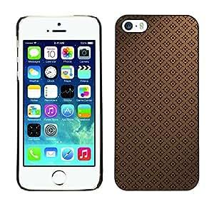 KOKO CASE / Apple Iphone 5 / 5S / patrón de papel tapiz clásico café marrón / Delgado Negro Plástico caso cubierta Shell Armor Funda Case Cover