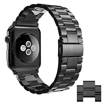 Simpeak Correa Compatible con Apple Watch Series 4 / Series 3 / Series 2 / Series 1 Correa 42mm de Acero Inoxidable Reemplazo de Banda de Compatible ...