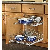 Rev-A-Shelf 5WB2-1222-CR 12-Inch Two-Tier Wire Baskets