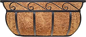 Garden Trough Deck Planter, English Horse Trough Coco Planter, Metal Window Planter Trough, Cast Iron with Coco Liner