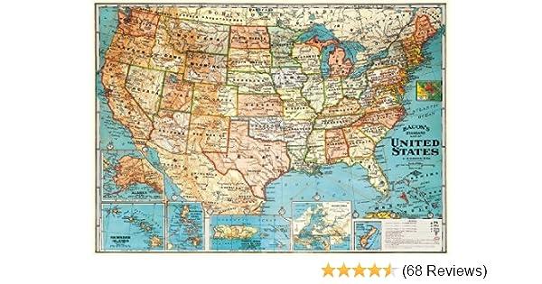 Amazon decorative wrap 20x28 usa map gumiabroncs Image collections