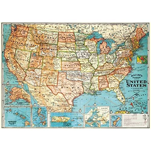 united states map retro vintage usa map can be used for tracking trips or visited locations