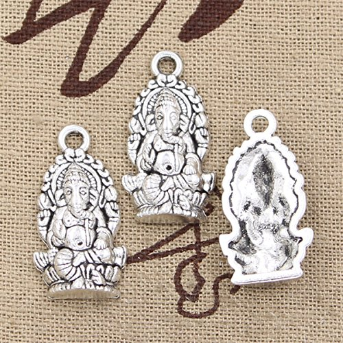 20pcs Charms Ganesha elephant buddha 26x14mm Antique Making Vintage Tibetan Silver Zinc Alloy Pendant