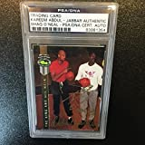 1992 Classic Kareem Abdul-jabbar & Shaquille O'neal Signed Card Auto - PSA/DNA Certified - Basketball Autographed Cards